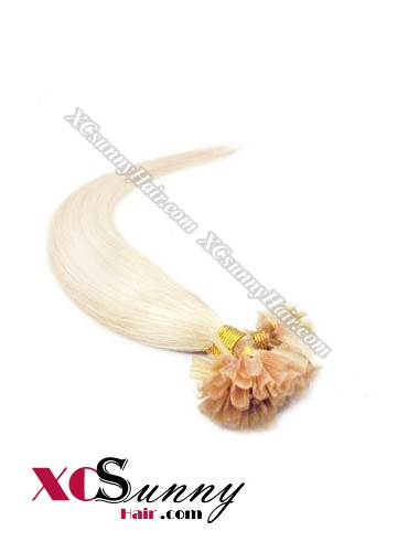 16 Inch - 26 Inch Silk Straight #613 Nail Tip Human Hair Extensions 0.5g*50s [NUTS55021]