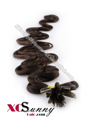 16 Inch - 26 Inch Body Wave #4 Nail Tip Human Hair Extensions 0.5g*50s [NUTB55005]
