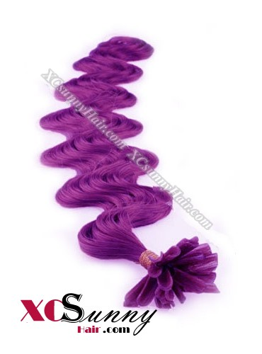16 Inch - 26 Inch Body Wave #Purple Nail Tip Human Hair Extensions 0.5g*50s [NUTB55025]
