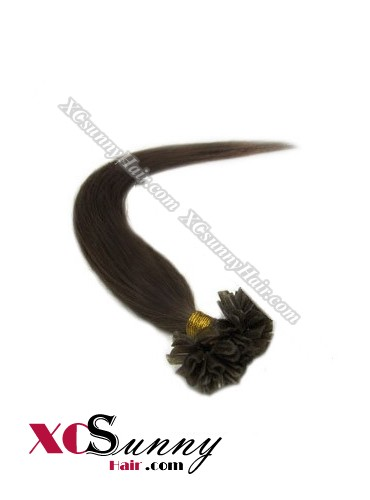 16 Inch - 26 Inch Silk Straight #1B Nail Tip Human Hair Extensions 0.5g*100s [NUTS51002]