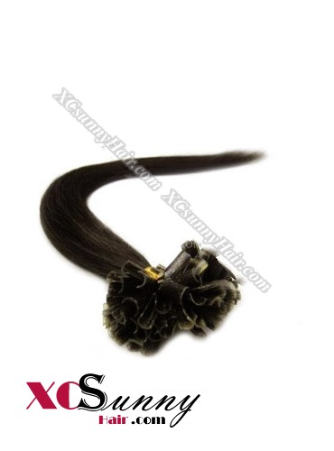 16 Inch - 26 Inch Silk Straight #2 Nail Tip Human Hair Extensions 0.5g*100s [NUTS51003]