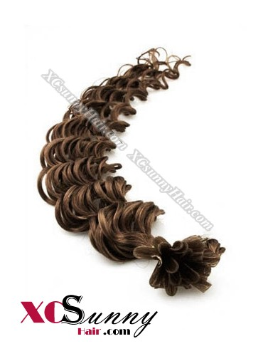 16 Inch - 26 Inch Deep Wave #8 Nail Tip Human Hair Extensions 0.5g*50s [NUTD55007]