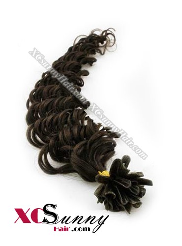 16 Inch - 26 Inch Deep Wave #3 Nail Tip Human Hair Extensions 0.5g*50s [NUTD55004]