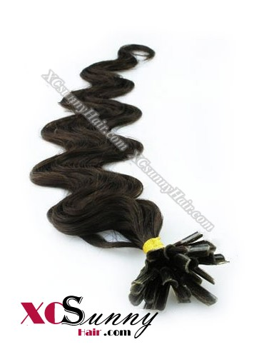 16 Inch - 26 Inch Body Wave #2 Nail Tip Human Hair Extensions 0.5g*100s [NUTB51003]