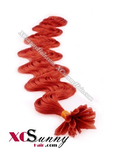 16 Inch - 26 Inch Body Wave #Red Nail Tip Human Hair Extensions 0.5g*100s [NUTB51026]