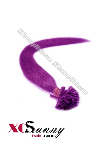 18 Inch - 26 Inch Silk Straight #Purple Nail Tip Human Hair Extensions 1g*50s [NUTS15025]