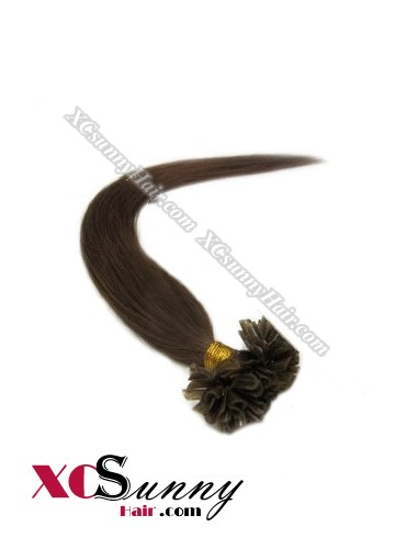 18 Inch - 26 Inch Silk Straight #3 Nail Tip Human Hair Extensions 1g*100s [NUTS11004]