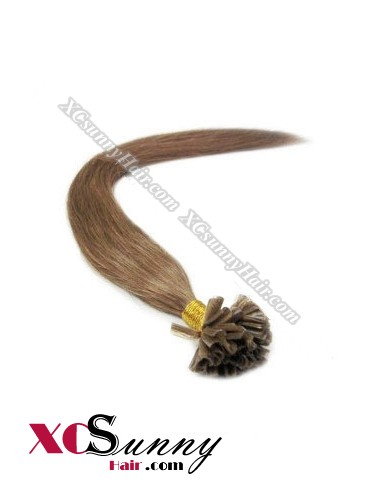 18 Inch - 26 Inch Silk Straight #8 Nail Tip Human Hair Extensions 1g*100s [NUTS11007]