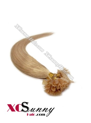18 Inch - 26 Inch Silk Straight #12 Nail Tip Human Hair Extensions 1g*100s [NUTS11009]