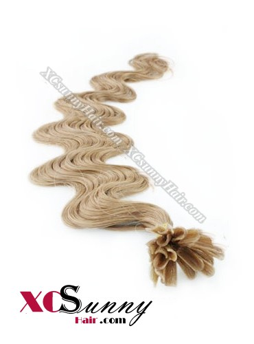 18 Inch - 26 Inch Body Wave #18 Nail Tip Human Hair Extensions 1g*100s [NUTB11012]