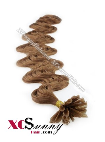 18 Inch - 26 Inch Body Wave #30 Nail Tip Human Hair Extensions 1g*100s [NUTB11016]