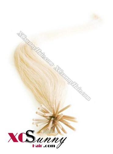 16 Inch - 26 Inch Silk Straight #613 Stick Tip Human Hair Extensions 0.5g*100s [SUTS51021]
