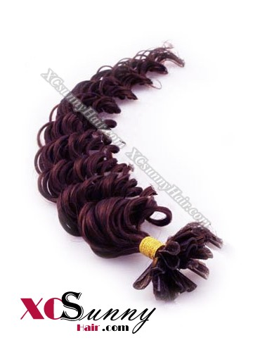 18 Inch - 26 Inch Deep Wave #99 Nail Tip Human Hair Extensions 1g*100s [NUTD11019]