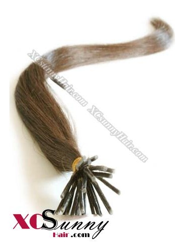 16 Inch - 26 Inch Silk Straight #6 Stick Tip Human Hair Extensions 0.5g*50s [SUTS55006]