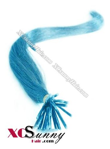 16 Inch - 26 Inch Silk Straight #Blue Stick Tip Human Hair Extensions 0.5g*50s [SUTS55022]