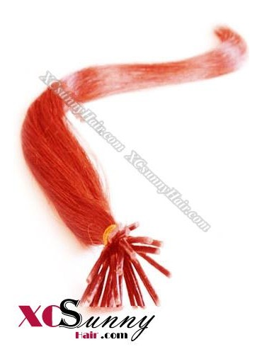 16 Inch - 26 Inch Silk Straight #Red Stick Tip Human Hair Extensions 0.5g*50s [SUTS55026]