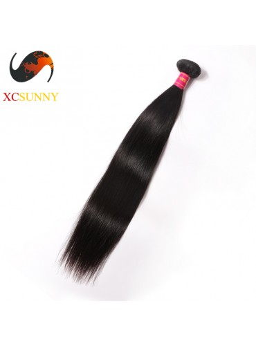 Wholesale-12-26 Inch 8A Deluxe Straight 100% Brazilian Virgin Hair Weave Remy Human Hair Weft 100g/pcs [BHV101]