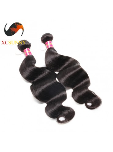 Wholesale Mix Length 2pcs-12-26 Inch 8A Deluxe Body Wave 100% Brazilian Virgin Hair Weave Remy Human Hair Weft 100g/pcs [BHV105]