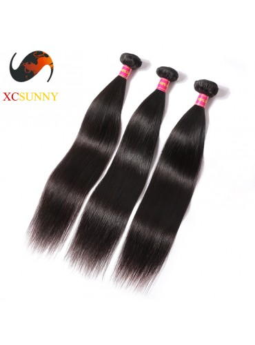 Wholesale Mix Length 3pcs-12-26 Inch 8A Deluxe Straight 100% Brazilian Virgin Hair Weave Remy Human Hair Weft 100g/pcs [BHV066]