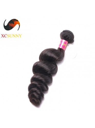 Wholesale-12-26 Inch 8A Deluxe Loose Wave 100% Brazilian Virgin Hair Weave Remy Human Hair Weft 100g/pcs [BHV103]