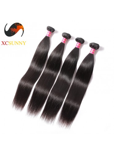 Wholesale Mix Length 4pcs-12-26 Inch 8A Deluxe Straight 100% Brazilian Virgin Hair Weave Remy Human Hair Weft 100g/pcs [BHV111]