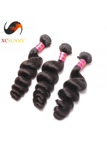 Wholesale Mix Length 3pcs-12-26 Inch 8A Deluxe Loose Wave 100% Brazilian Virgin Hair Weave Remy Human Hair Weft 100g/pcs [BHV109]