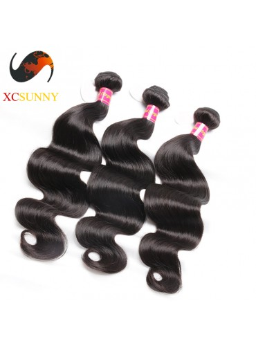 Wholesale Mix Length 3pcs-12-26 Inch 8A Deluxe Body Wave 100% Brazilian Virgin Hair Weave Remy Human Hair Weft 100g/pcs [BHV108]