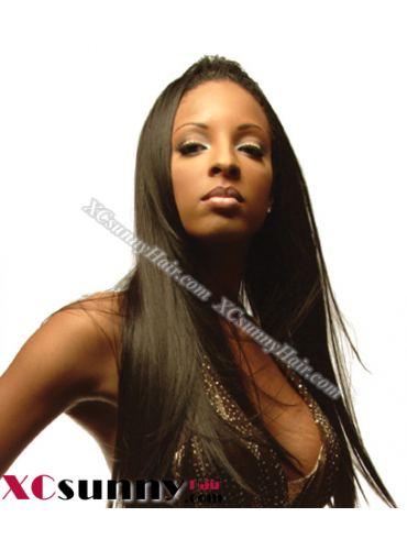 18 Inch Silky Straight #2 Glueless Lace Front Wigs 100% Indian Remy Human Hair [GLH080]