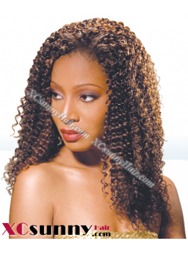 18 Inch Water Wave #1B Glueless Lace Front Wigs 100% Indian Remy Human Hair [GLH086]