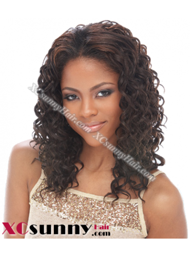 14 Inch Deep Wave #2  Glueless Full Lace Wigs 100% Indian Remy Human Hair [GFH036]
