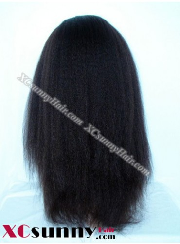 18 Inch Kinky Straight #2  Full Lace Wigs 100% Indian Remy Human Hair [FLH245]