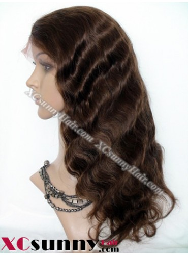 16 Inch Body Wave #4 Full Lace Wigs 100% Indian Remy Human Hair [FLH254]
