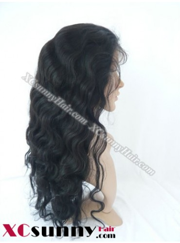 20 Inch Body Wave #1B Full Lace Wigs 100% Indian Remy Human Hair [FLH258]