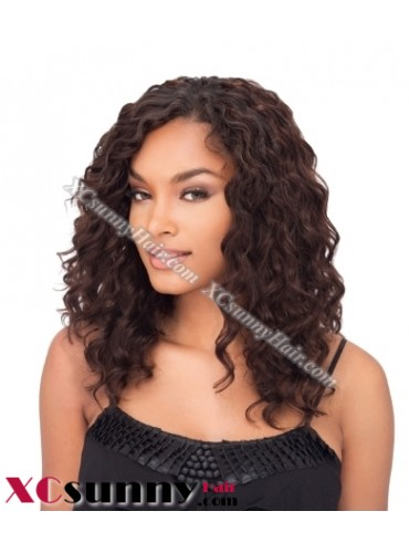 16 inch Deep Wave #4 Lace Front Wigs 100% Indian Remy Human Hair [LFH242]