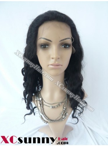 16 Inch Body Wave  #1B Glueless Lace Front Wigs 100% Indian Remy Human Hair [GLH070]