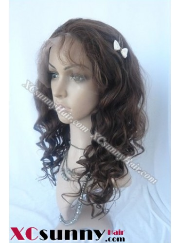 16 Inch Body Wave #4  Glueless Full Lace  Wigs 100% Indian Remy Human Hair [GFH110]