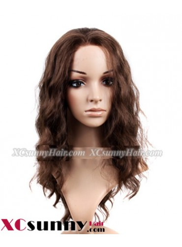 18 inch Body Wave #4 Lace Front Wigs 100% Indian Remy Human Hair [LFH210]