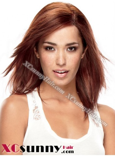 10 Inch Silky Straight #4 Glueless Full Lace Wigs 100% Indian Remy Human Hair [GFH088]