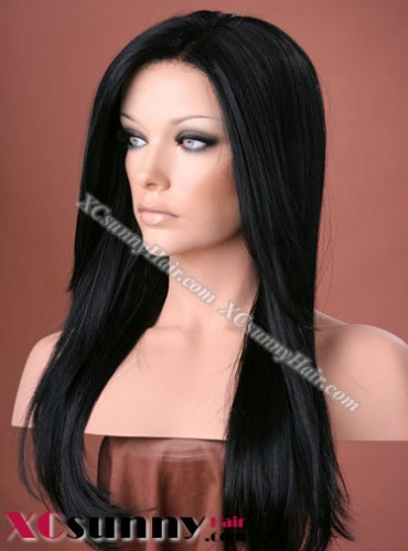 20 Inch Silky Straight #1 Full Lace Wigs 100% Indian Remy Human Hair [FLH234]