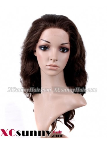 18 Inch Body Wave  #4 Glueless Full Lace  Wigs 100% Indian Remy Human Hair [GFH099]