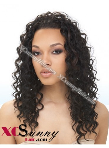 8-26 Inch Deep Wave #1B U-Part Full Lace Wigs 100% Brazilian Virgin Human Hair [UFL003]
