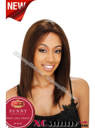 14 Inch Silky Straight #4 Glueless Full Lace Wigs 100% Indian Remy Human Hair [GFH012]