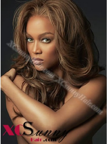 18 Inch #4 Full Lace Wigs Tyra Long Hairstyle 100% Indian Remy Human Hair Custom [CFL009]