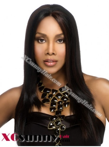 18 Inch Silky Straight #1 Full Lace Wigs 100% Indian Remy Human Hair [FLH231]