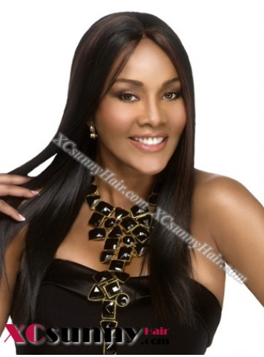 18 inch Silky Straight  #1 Lace Front Wigs 100% Indian Remy Human Hair [LFH187]