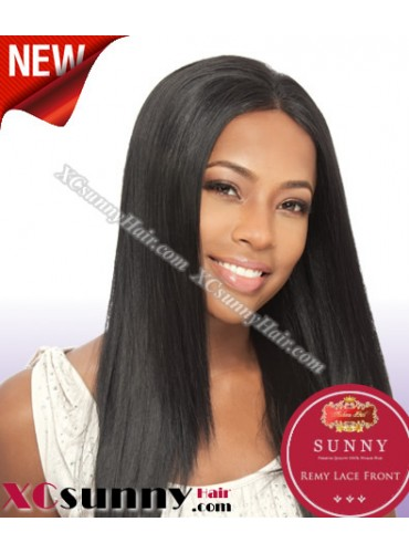 14 Inch Silky Straight #1 Glueless Lace Front Wigs 100% Indian Remy Human Hair [GLH031]