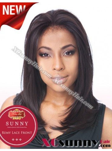 14 Inch Silky Straight #4 Glueless Full Lace Wigs 100% Indian Remy Human Hair [GFH013]