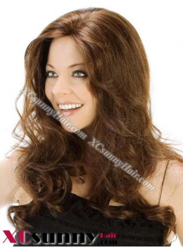 18 inch Body Wave #2 Lace Front Wigs 100% Indian Remy Human Hair [LFH208]