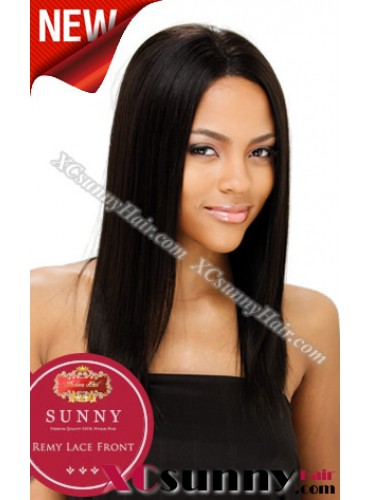 16 Inch Silky Straight #1  Glueless Full Lace  Wigs 100% Indian Remy Human Hair [GFH008]